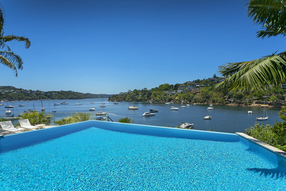 Agent Matthew Smythe   says this infinity pool is one of the most spectacular features he's ever seen in a Mosman home.