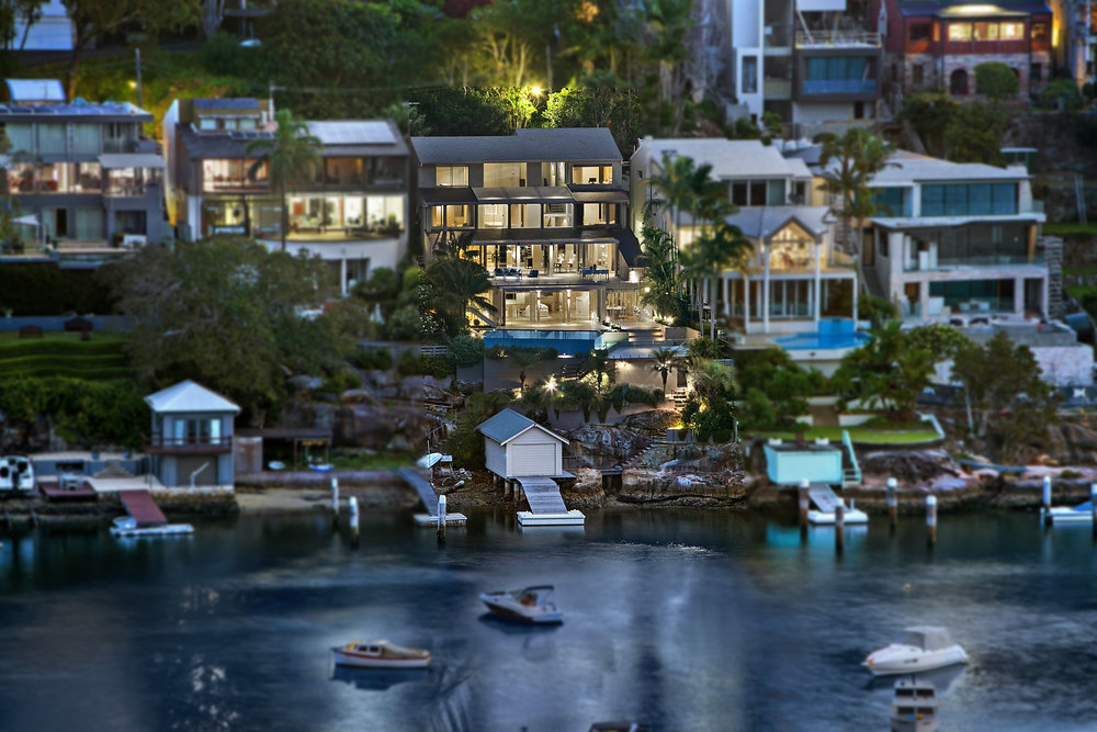 This deep waterfront dream home is located at 41 Carrington Ave, Mosman.  Image: Matthew Smythe/  Belle Property  .