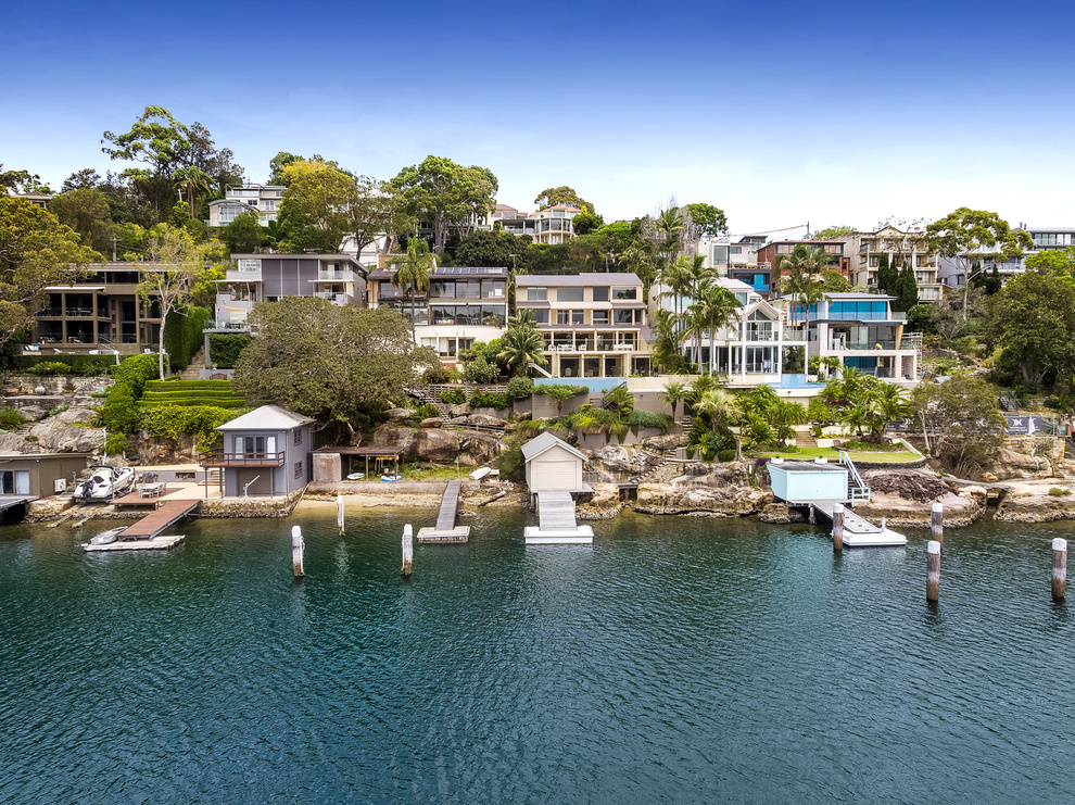 A jetty, pontoon and boathouse is part of the package at 41 Carrington Ave.