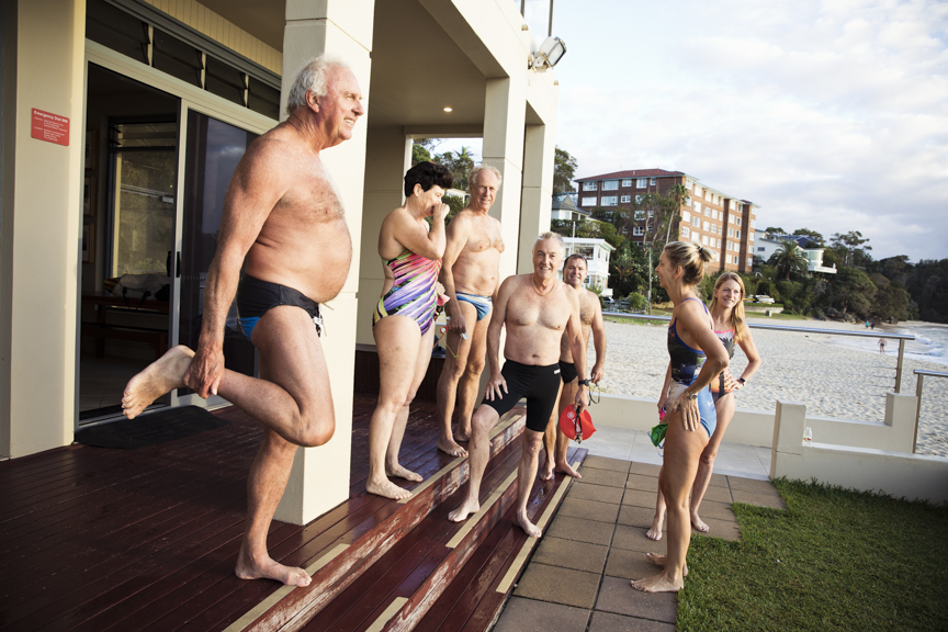 These local swimmers are all set for the 27th annual Balmoral Swim.  Image: Graham Monro/ gmphotographics