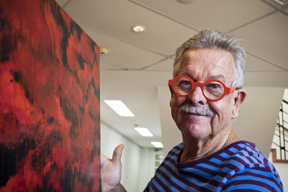 Ken Done returns to the Art Gallery to judge the 2018 Mosman Youth Art Prize.  Image: Graham Monro/ gmphotographics
