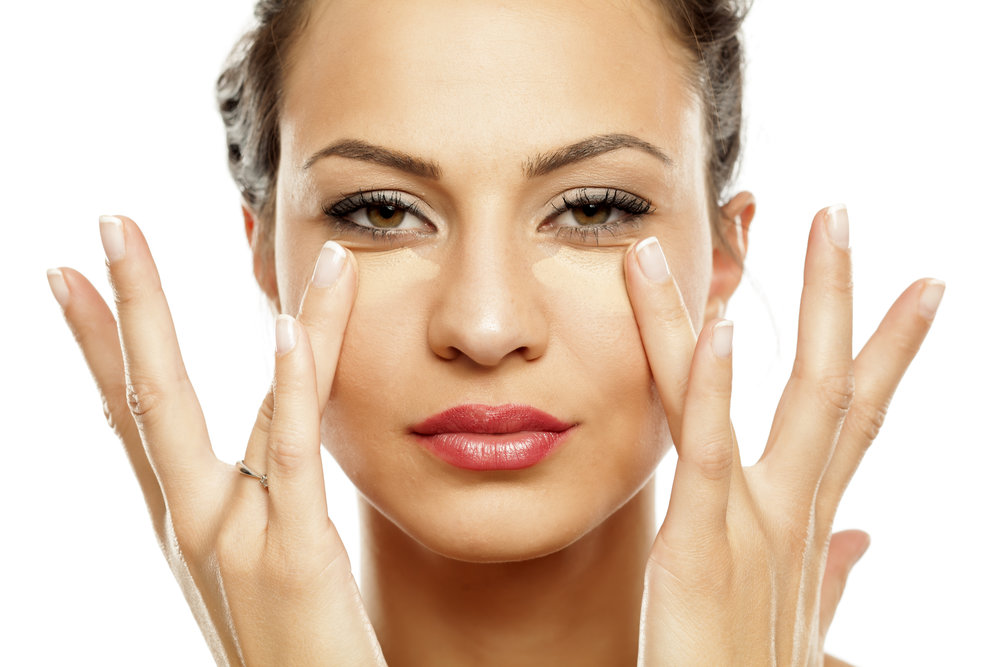 4. CONCEALER - This always gets applied AFTER foundation. With a touch up pen or concealer pot, draw an upside down triangle under your eyes. Blend well with your ring finger (which is the weakest digit) to help prevent wrinkles.