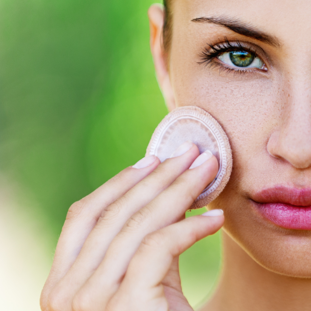 10. POWDER - Use powder last, on your T-zone.Brush the centre of your forehead, the sides of the nose, and lightly across your chin.