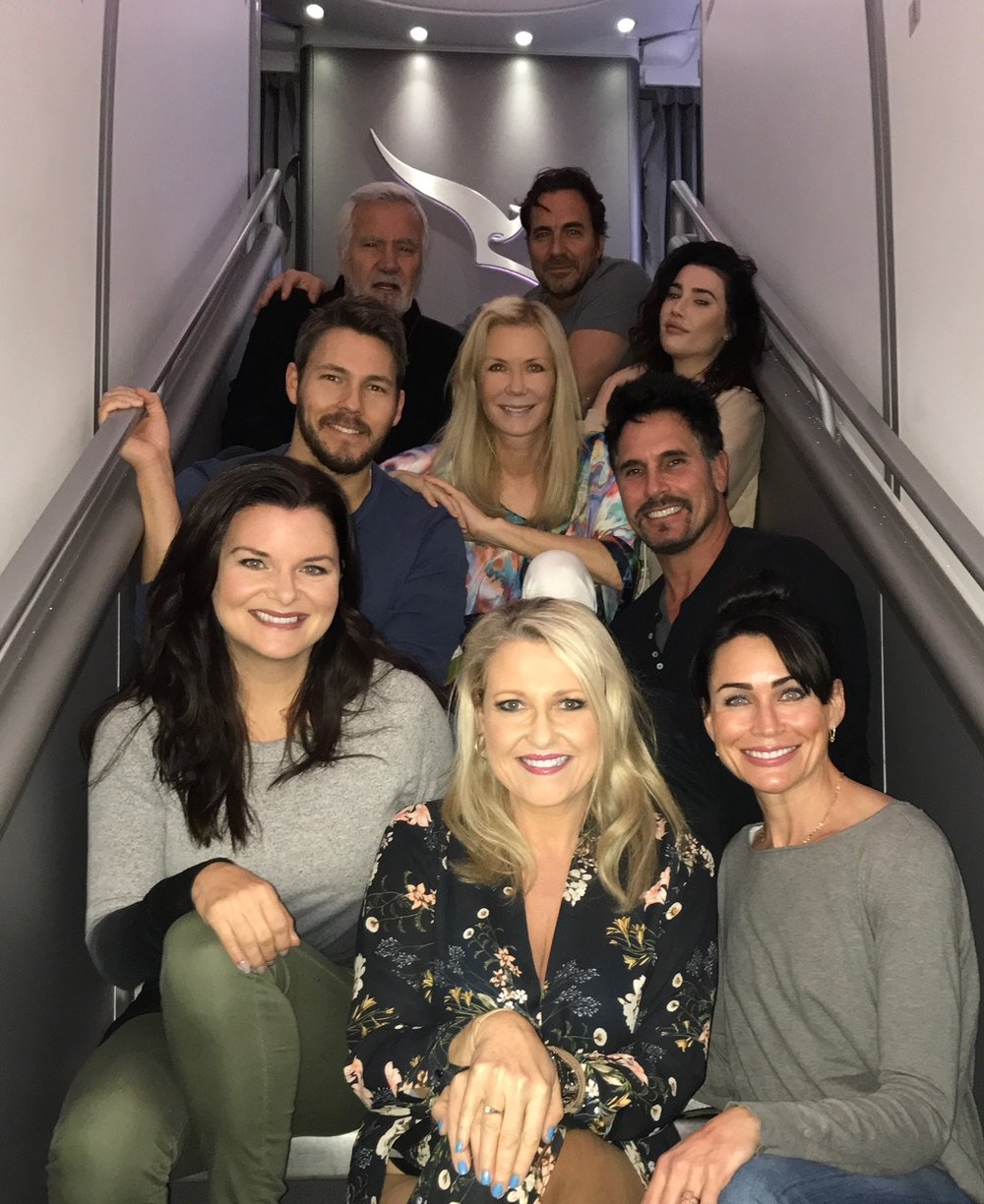 """Beautiful Angela Bishop with the cast of """"The Bold and The Beautiful""""."""