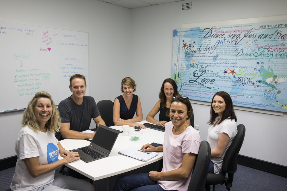 Members of Raise Foundation in their Mosman boardroom.