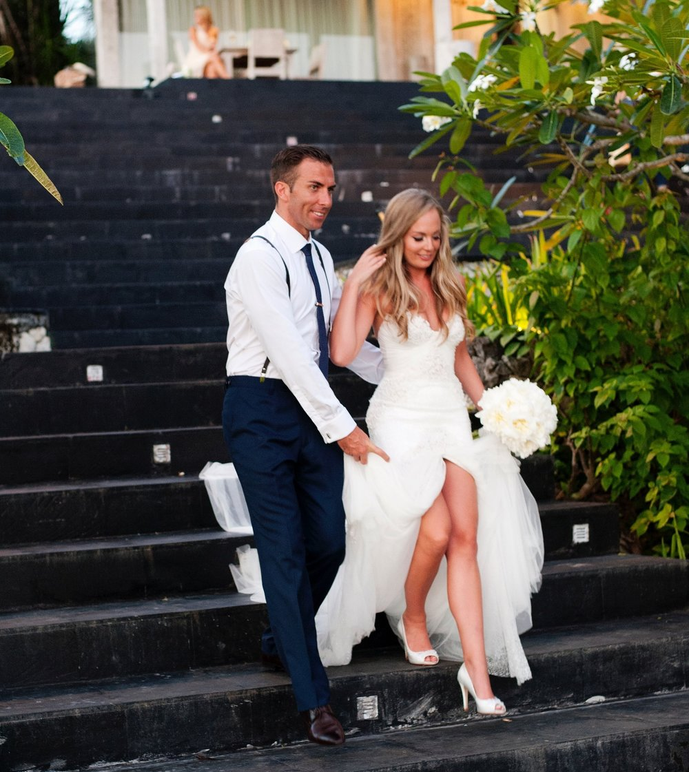 Michael Coombs and Mia Timms - The magical matrimony of Michael Coombs and his stunning Bride Mia, took place on April 16th 2015, in Bali.Known as one of the country's top Real Estate Agents, Michael describes the wedding as the best day of his life,