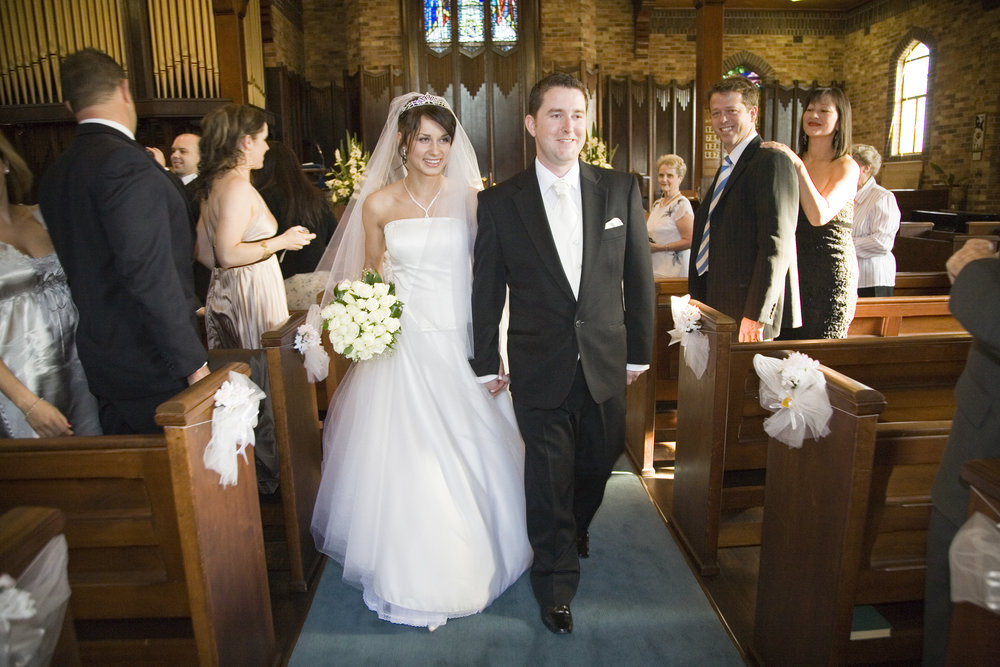 James and wife Viktoria married in Mosman in 2007.