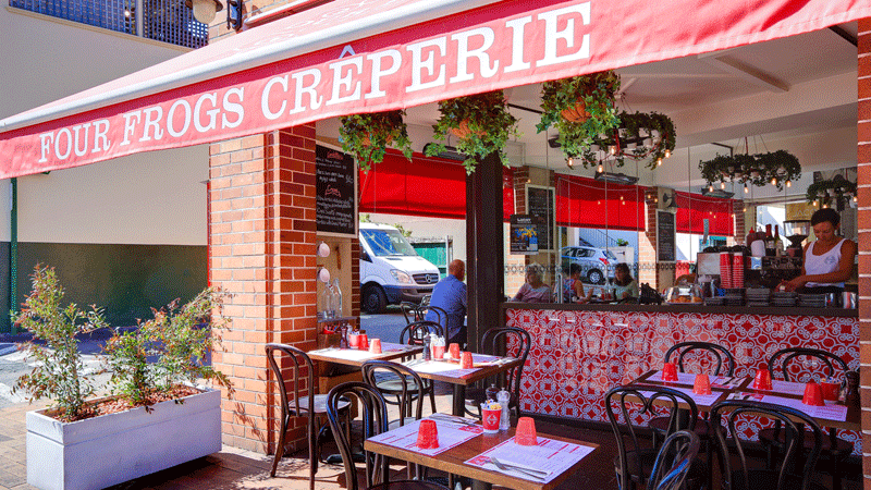The Spenceley family are regular patrons at Four Frogs in Mosman.