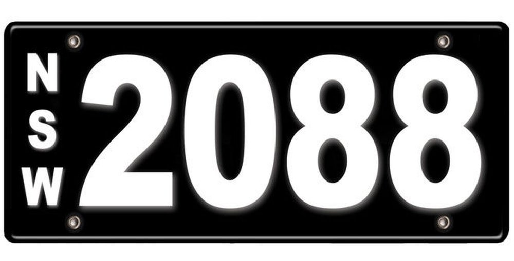 James Spenceley 2088 numberplate