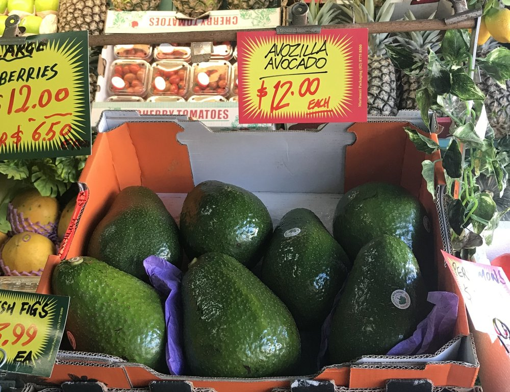Jimmy and Toula are the only Mosman stockists of the gigantic AVOZILLA.