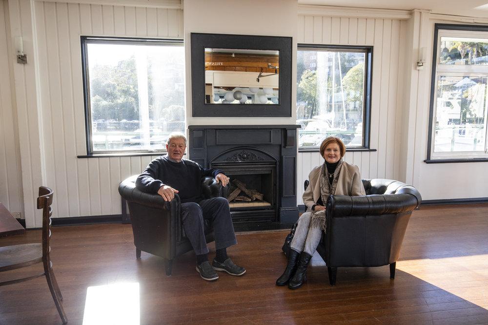 Long time members Denis and Helen Durham at Mosman Rowers this week.