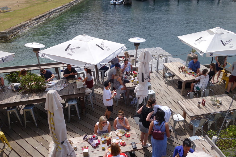 The Flying Bear cafe at Kirribilli is one of the successful waterfront venues run by the Marshall family.
