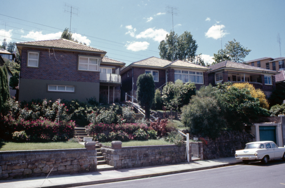 Botanic Rd, Mosman in the 1970s.