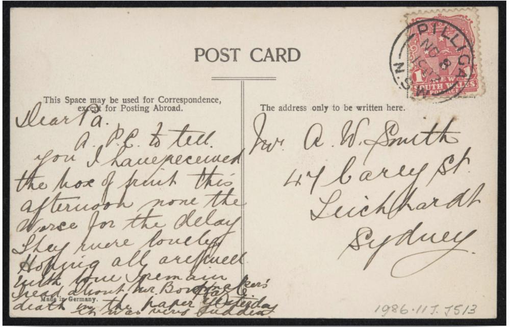 mosman postcard 1900s