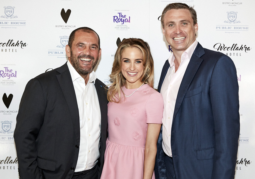 CEO Mitchell Waugh (far right) with wife Harriet and Guillaume Brahimi.