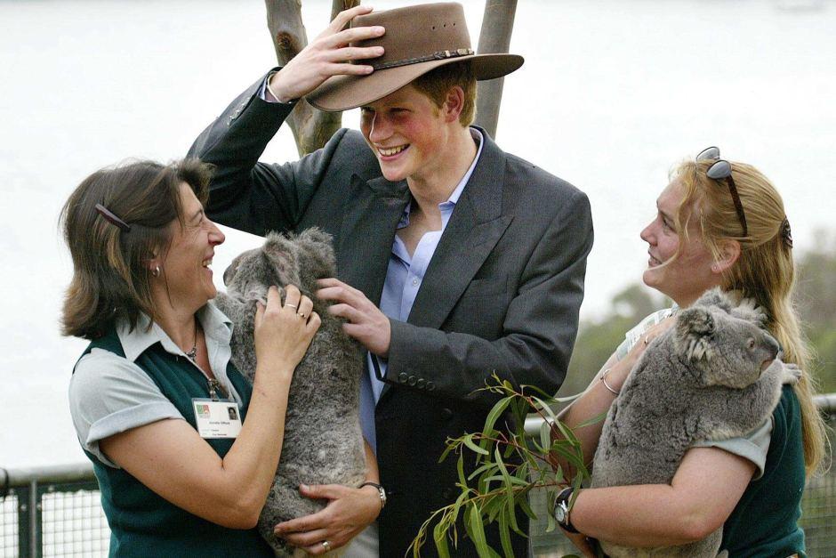Prince Harry at Taronga Zoo in 2003. Photo: Greg Wood AFP.