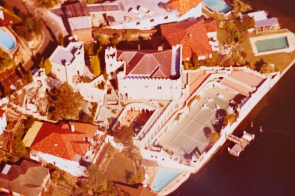 An aerial view of Chalwin Castle, on Shellbank Avenue, Cremorne.