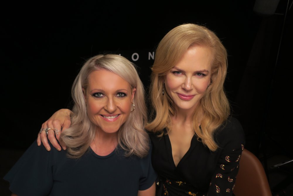 Mosman's Angela Bishop and Nicole Kidman, pictured last year.