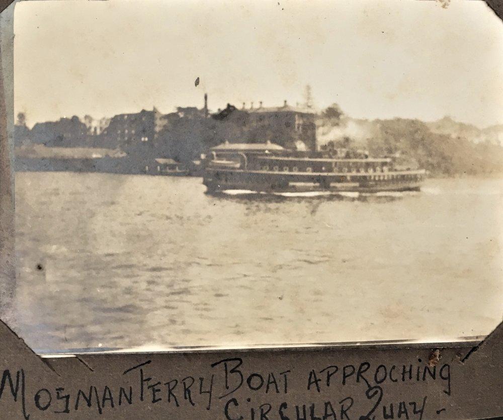 mosman ferry 1920s