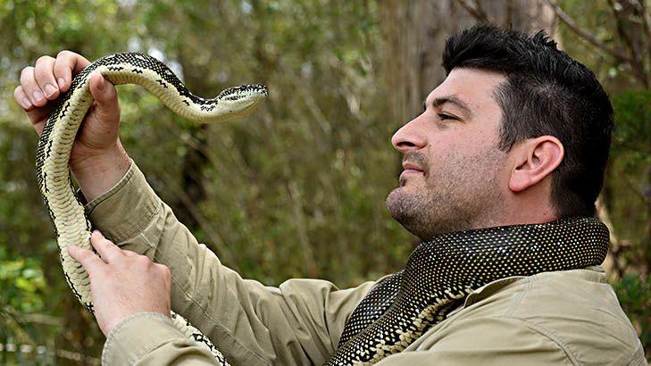 Snake catcher Harley Jones.