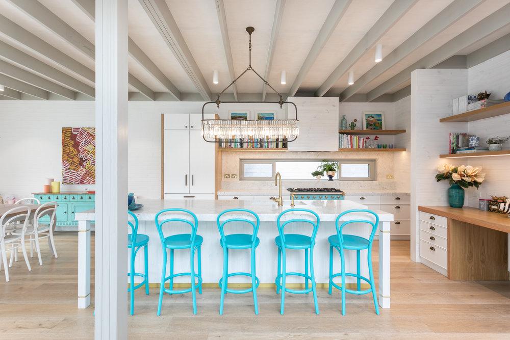 Stunning: The bespoke kitchen at 6 Lang St, Mosman.