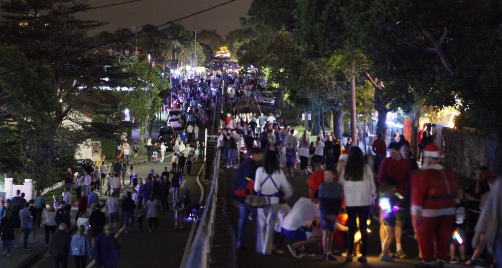 Big crowds are expected at the 2018 light display, with Prince Albert St closed to traffic for the event.