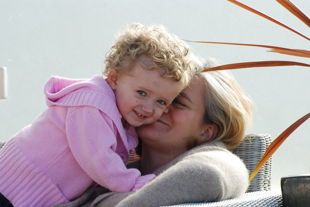 A treasured photo of Sienna with her mum Lucy.
