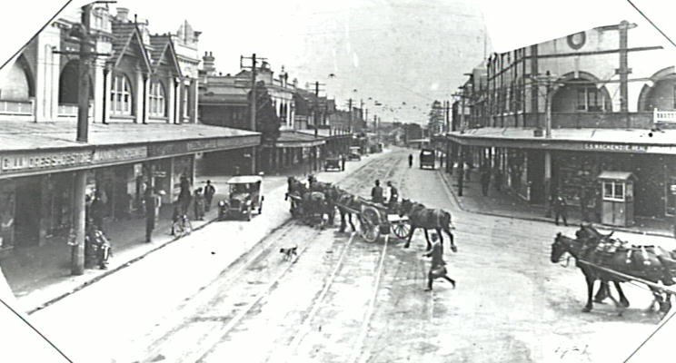 Spit Junction at the turn of the century.   Image: Mosman Library.