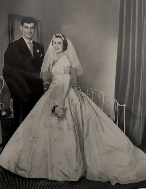 Ivan and Beth on their wedding day. September, 1959.