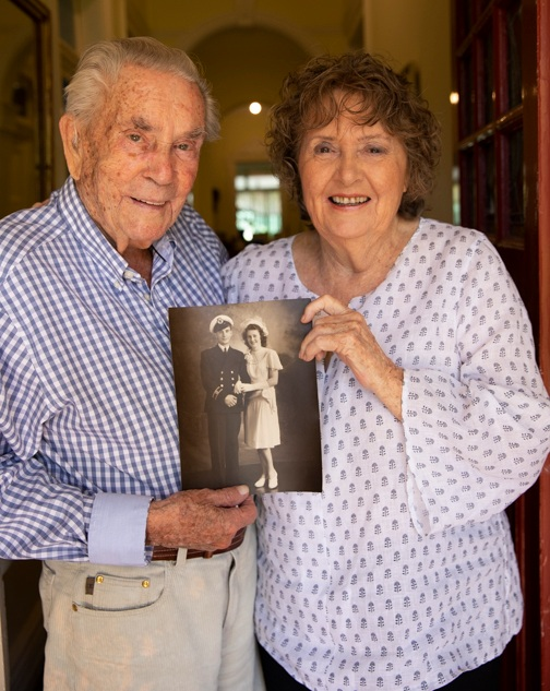 George and Geraldine in their Mosman home this week.