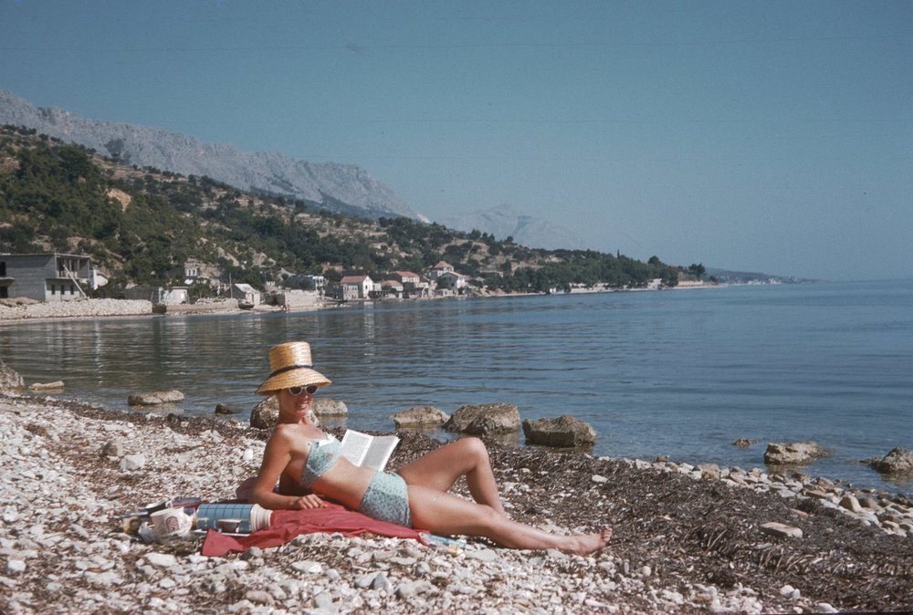 A young Beth, photographed overseas in the 1960s.