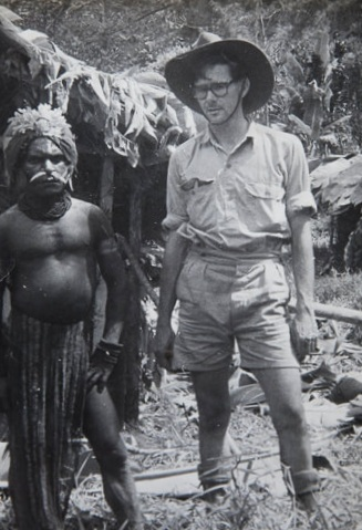 Gavin Souter, with one of the Gant people.