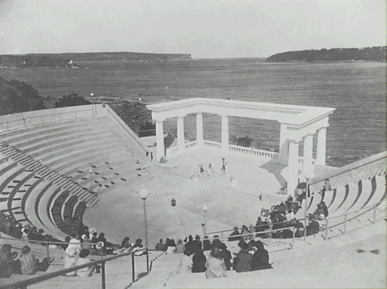 The amphitheatre at Balmoral, built by the Theosophical Society. It was later demolished in the 1950s.