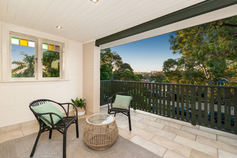 Escape the kids on your own private balcony!