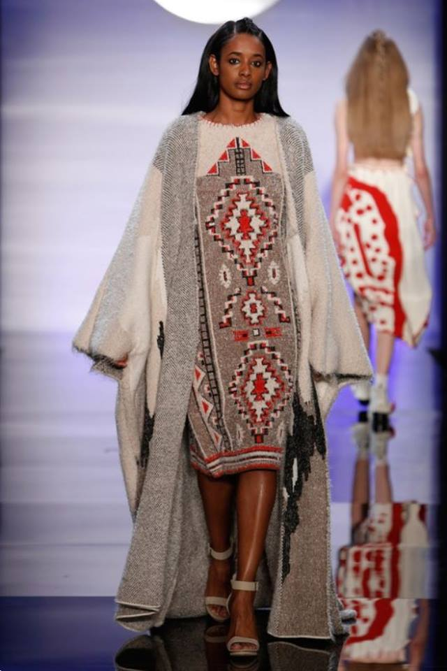 Aztec Dress - Featured in FIT's BFA Future of Fashion Show 2016Photo from WWD.com