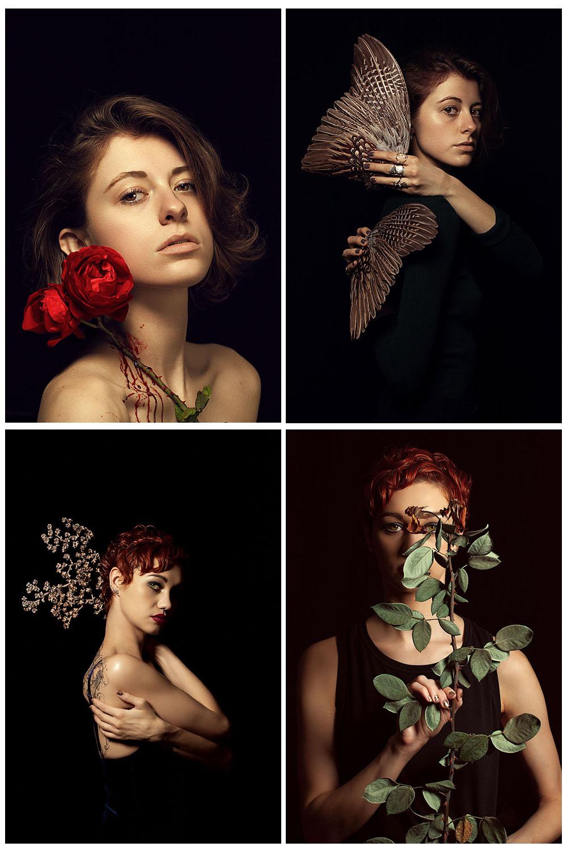 Beautiful studio lighting portraits.