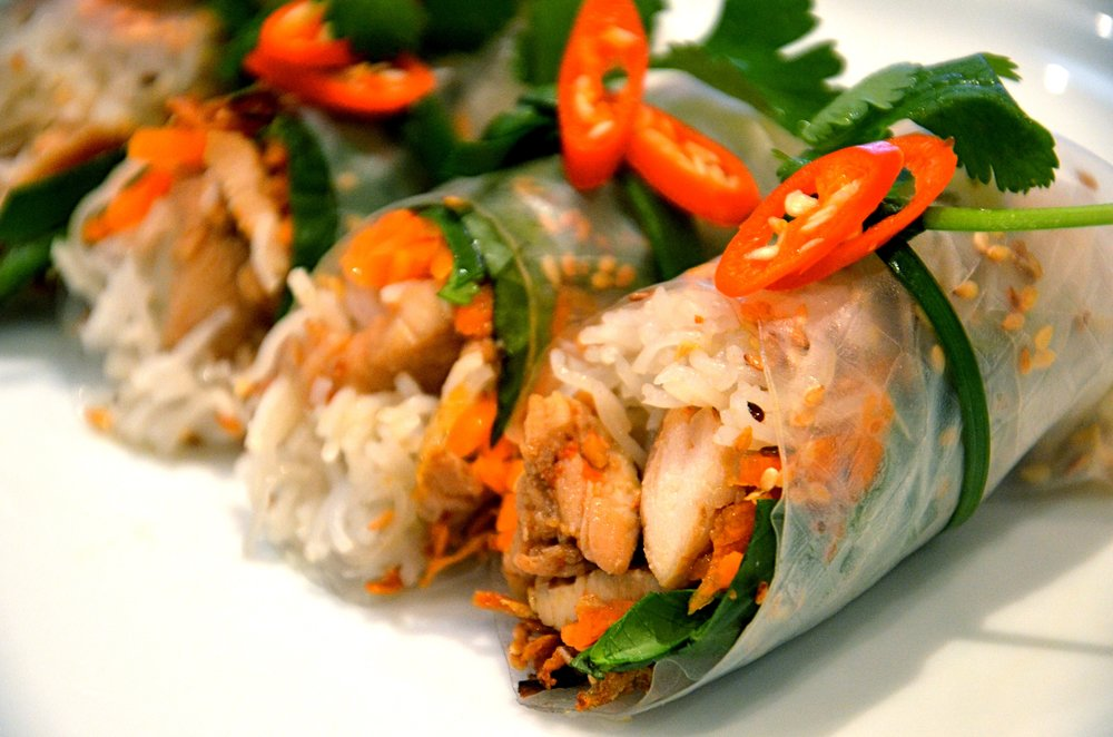 Rice paper roll from Foodie Trails Vietnamese Cooking Class