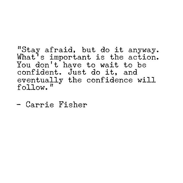 There will always be fear, but just do it anyway. 🙌🏽💖✨ #theleaguewomen #carriefisher #stayafraid