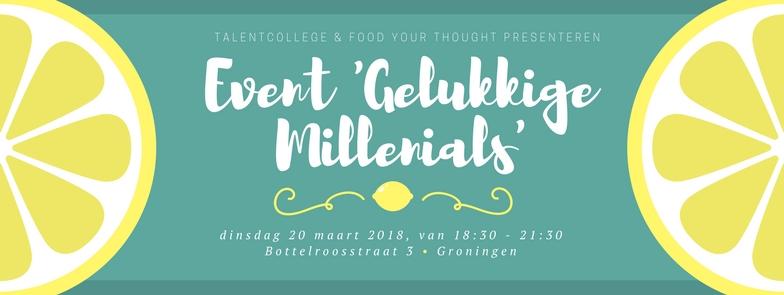 Gelukkige Millenials Workshopavond-foodyourthought-talentcollege