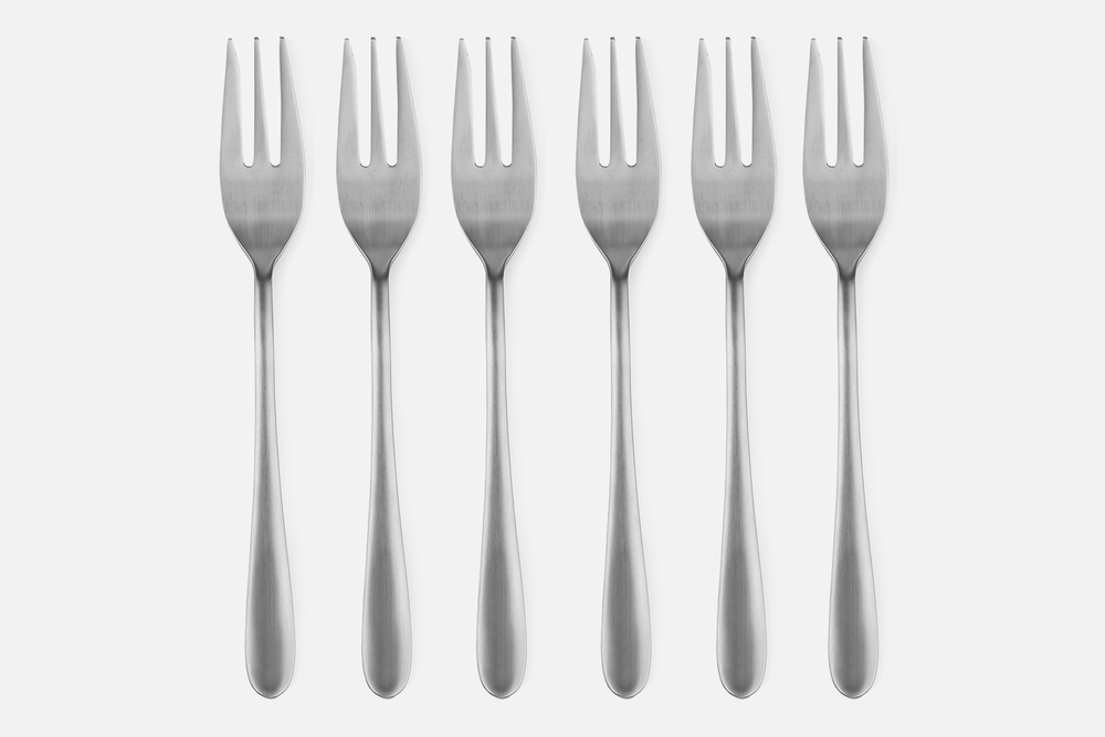 Cake fork, matt - 6 pcsStainless steelDesign by eb design teamArt. no.: 90129