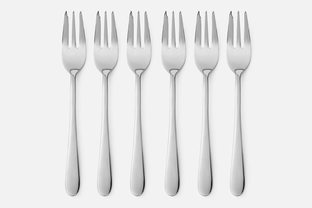 Kagegaffel blank - 6 stkRustfrit stålDesign by eb design teamArt. nr.: 90125