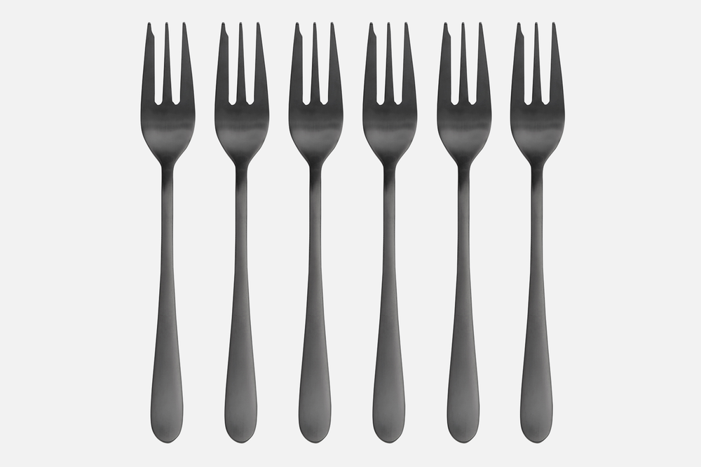 Cake fork, black - 6 pcsStainless steelDesign by eb design teamArt. no.: 90137