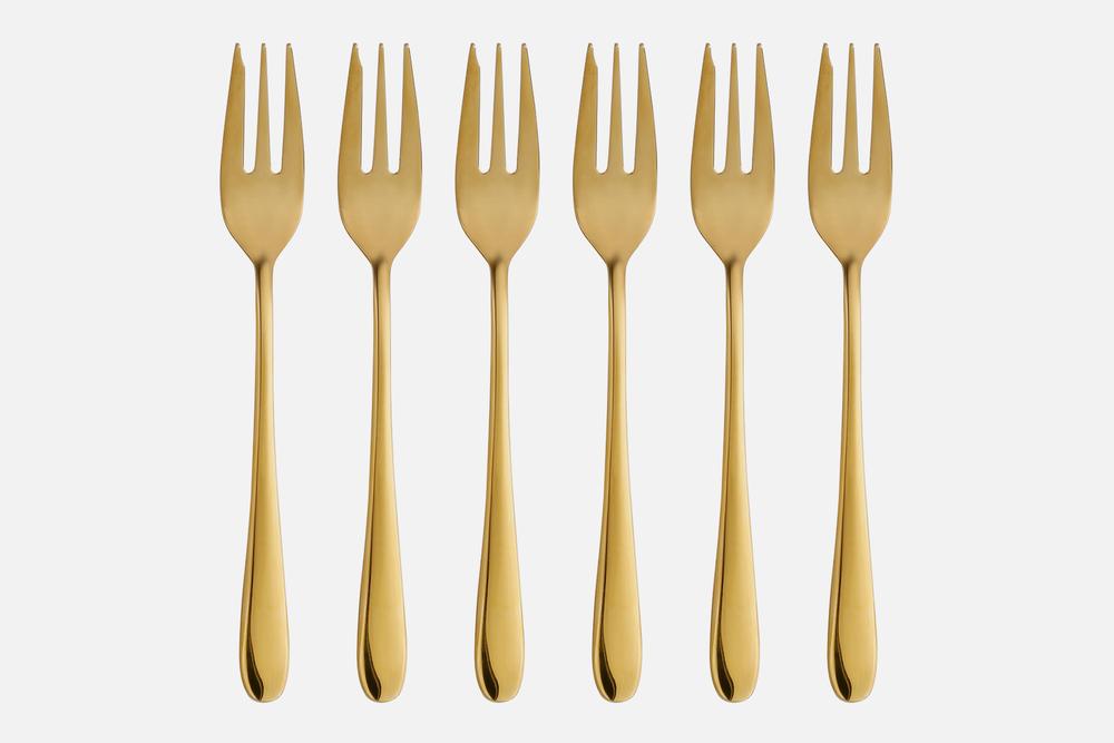 Kagegaffel guld - 6 stkRustfrit stålDesign by eb design teamArt. nr.: 90136
