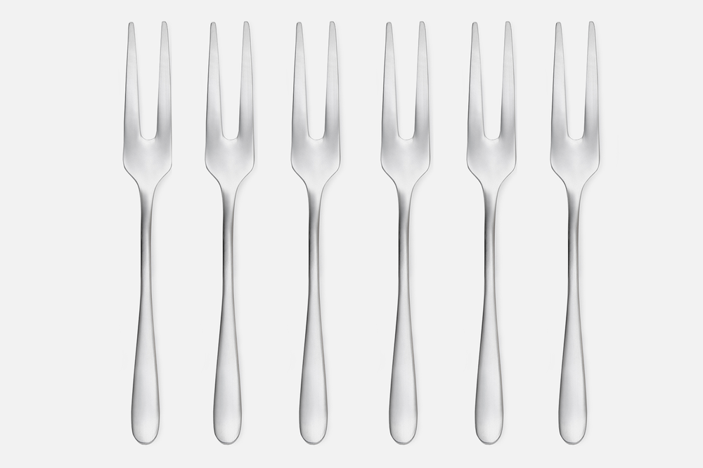 Pålægsgaffel mat - 6 stkRustfrit stålDesign by eb design teamArt. nr.: 90128