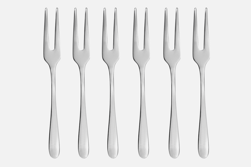 Serving fork, shiny  - 6 pcsStainless steelDesign by eb design teamArt. no.: 90124
