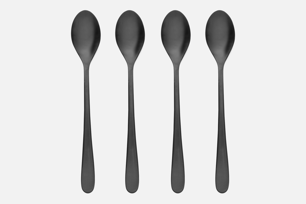 Café latte spoon, black - 4 pcsStainless steelDesign by eb design teamArt. no.: 90133
