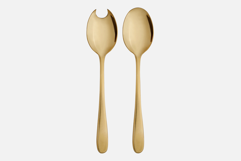 Salad servers, gold plated - 1 setStainless steelDesign by eb design teamArt. no.: 90134