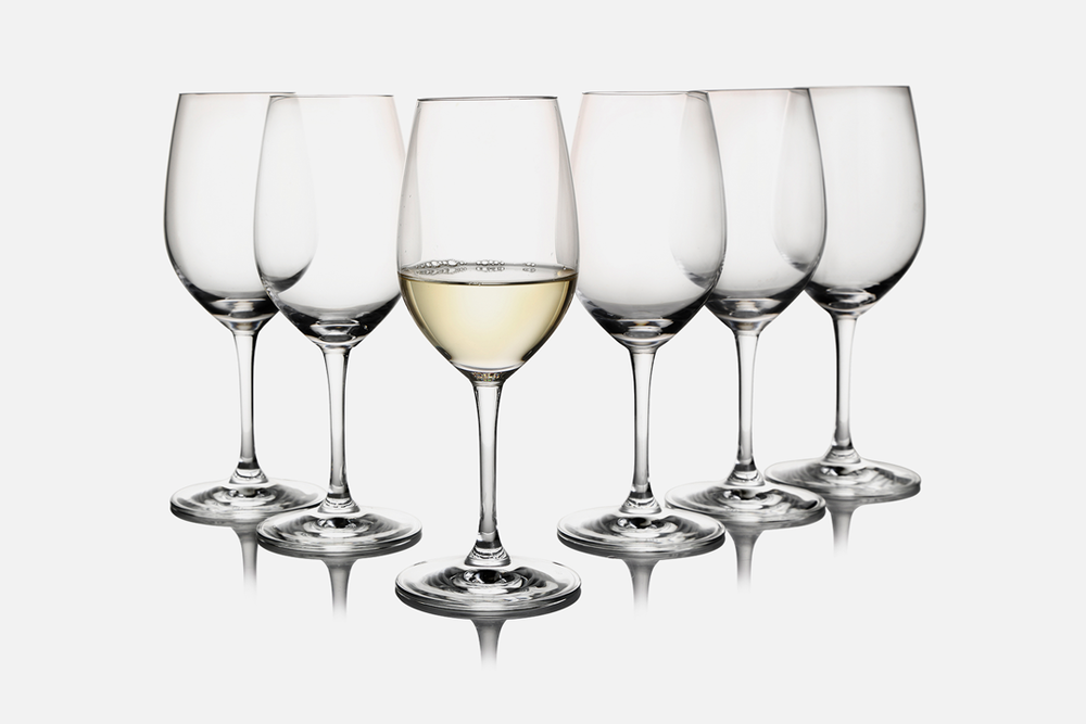 White wine glass - 6 pcs, 38 clGlassDesign by eb design teamArt. no.: 50402