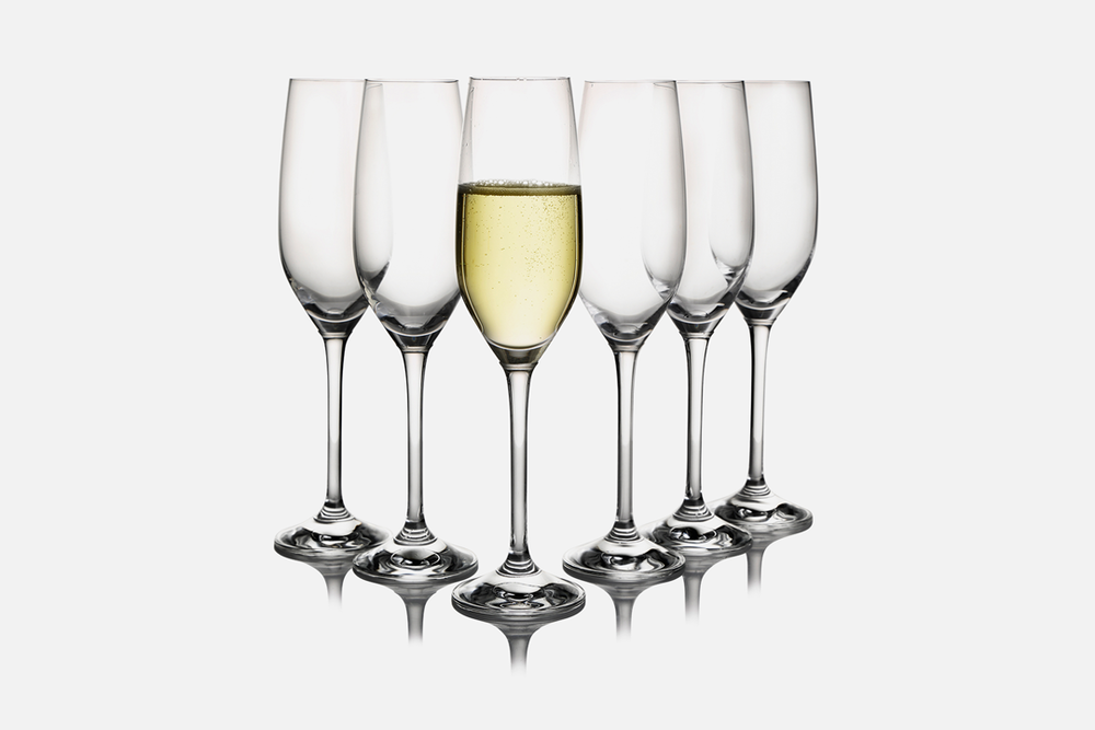 Champagne glass - 6 pcs, 20 clGlassDesign by eb design teamArt. no.: 50405