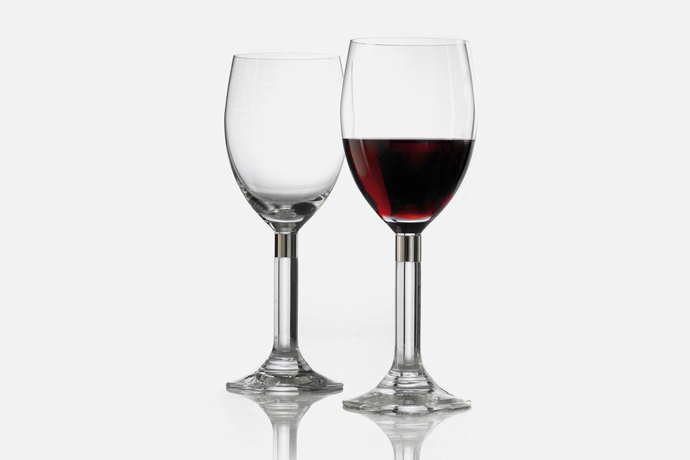 Rødvinsglas - 2 stk, 40 cl Glas og stålDesign by Erik BaggerArt. nr.: 52206